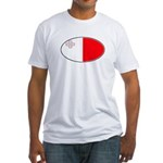 Maltese Oval Flag Fitted T-Shirt