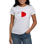 Maltese Oval Flag Women's T-Shirt
