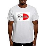 Maltese Oval Flag Ash Grey T-Shirt