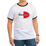 Maltese Oval Flag Ringer T