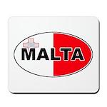 Maltese Oval Flag Mousepad