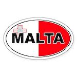 Maltese Oval Flag Oval Sticker