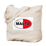 Maltese Oval Flag Tote Bag