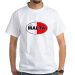 Maltese Oval Flag White T-Shirt
