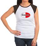Maltese Oval Flag Women's Cap Sleeve T-Shirt