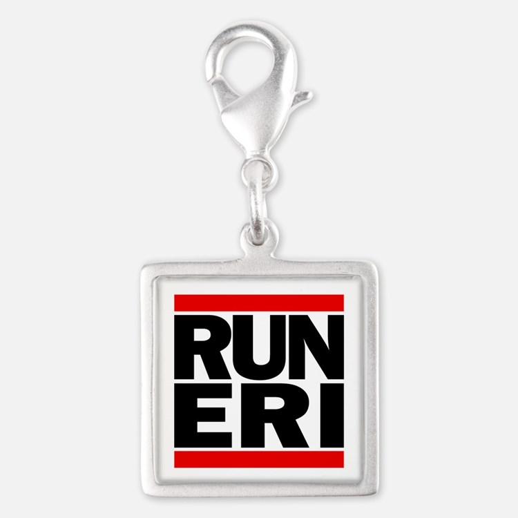 RUN ERI Silver Square Charm