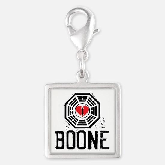I Heart Boone - LOST Silver Square Charm