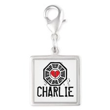 I Heart Charlie - LOST Silver Square Charm