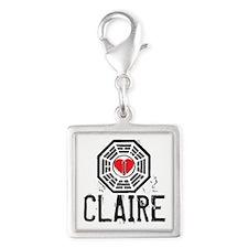 I Heart Claire - LOST Silver Square Charm