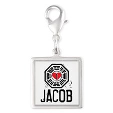 I Heart Jacob - LOST Silver Square Charm