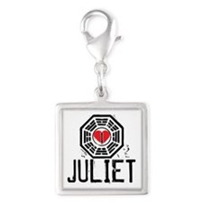 I Heart Juliet - LOST Silver Square Charm