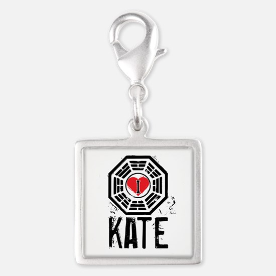 I Heart Kate - LOST Silver Square Charm