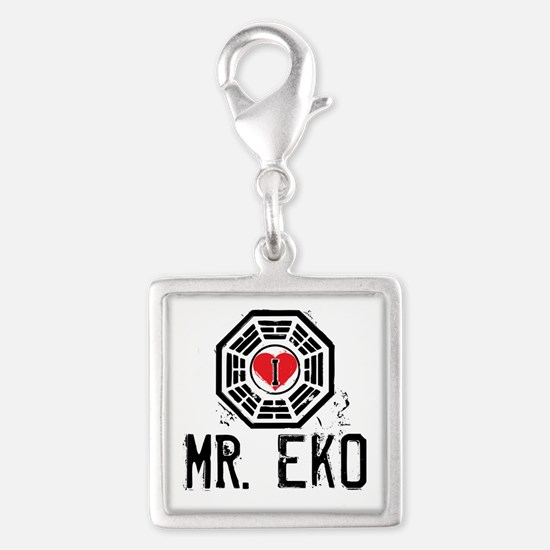 I Heart Mr. Eko - LOST Silver Square Charm