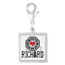 I Heart Richard - LOST Silver Square Charm