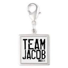Team Jacob - LOST Silver Square Charm