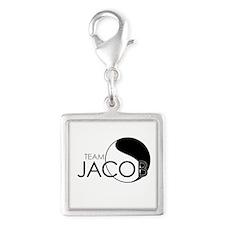Team Jacob - LOST Silver Square Charm