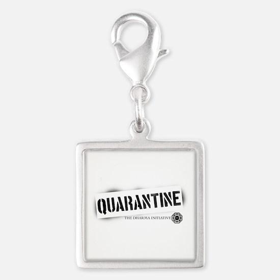 Quarantine - Dharma Initiativ Silver Square Charm
