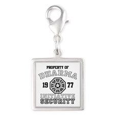 Dharma Initiative - Security Silver Square Charm