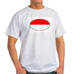 Monaco Oval Flag Ash Grey T-Shirt