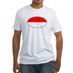 Monaco Oval Flag Fitted T-Shirt