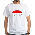 Monaco Oval Flag White T-Shirt