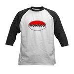 Monaco Oval Flag Kids Baseball Jersey