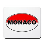 Monaco Oval Flag Mousepad