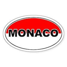 Monaco Oval Flag Oval Decal