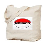 Monaco Oval Flag Tote Bag