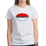 Monaco Oval Flag Women's T-Shirt
