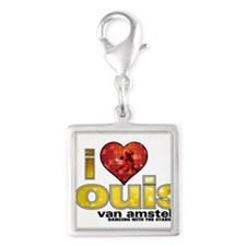 I Heart Louis van Amstel Silver Square Charm