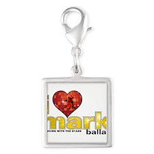 I Heart Mark Ballas Silver Square Charm