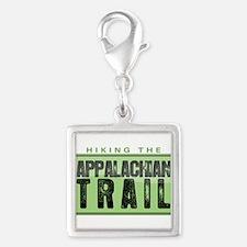 Hiking the Appalachian Trail Silver Square Charm