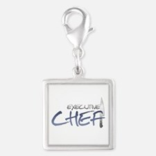 Blue Executive Chef Silver Square Charm