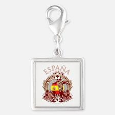 Espana Soccer Silver Square Charm