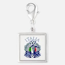 Italia Soccer Silver Square Charm