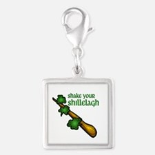 Shake Your Shillelagh Silver Square Charm