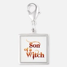 Son of a Witch Silver Square Charm