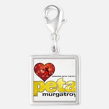 I Heart Peta Murgatroyd Silver Square Charm