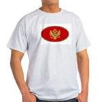 Montenegro Oval Flag Ash Grey T-Shirt