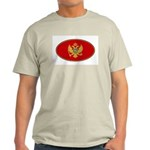 Montenegro Oval Flag Ash Grey T-Shirt