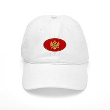 Montenegro Oval Flag Baseball Cap