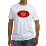 Montenegro Oval Flag Fitted T-Shirt