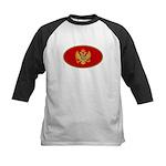 Montenegro Oval Flag Kids Baseball Jersey