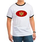 Montenegro Oval Flag Ringer T