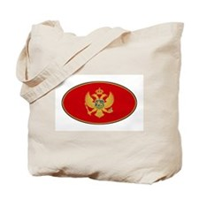 Montenegro Oval Flag Tote Bag