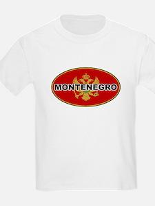 Montenegro Oval Flag Kids T-Shirt
