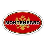 Montenegro Oval Flag Oval Sticker
