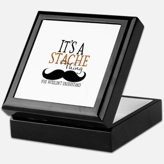 It's A Stache Thing Keepsake Box