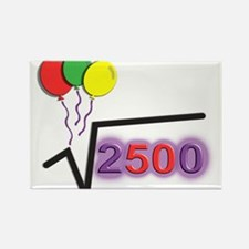 Funny Square Root 50th Birthday © Rectangle Magnet